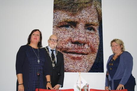 Fotomozaiek koning Willem-Alexander in Albrandswaard